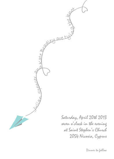wedding invitations - Paper plane by Stellina Creations