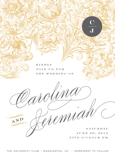 wedding invitations - Extreme Elegance by Amanda Larsen Design