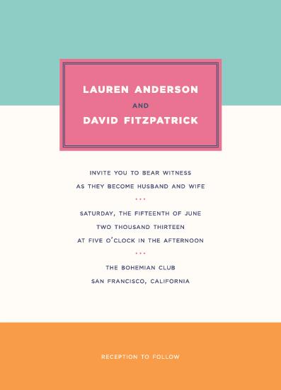 wedding invitations - Colorblock Bright by Bourne Paper Co.