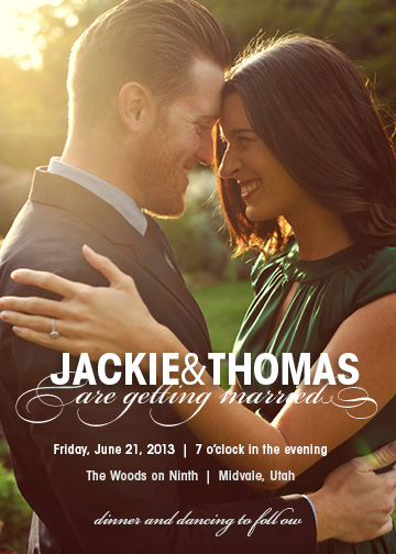 wedding invitations - Hard and Soft by Jessica Booth