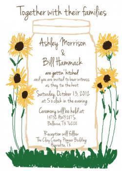 Big Mason Jar with Sunflowers