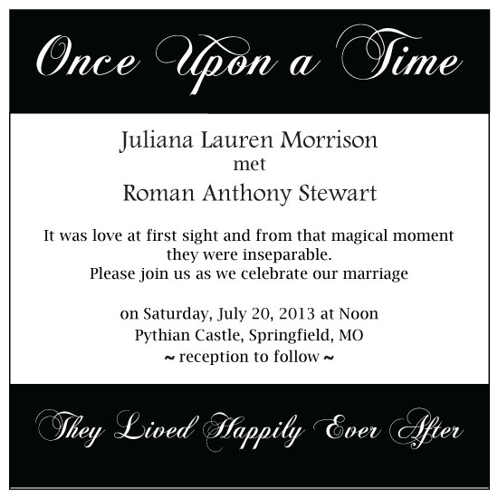 wedding invitations - Once Upon a Time...  by Meggie Kaplan