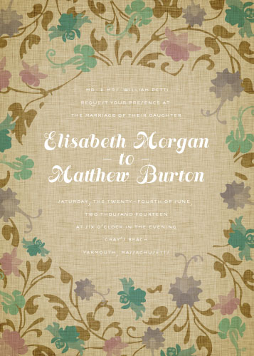 wedding invitations - Fairytale Fauna by 24th and Dune