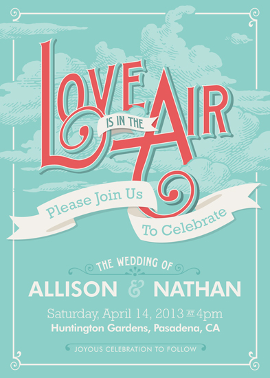 wedding invitations - Love Is In The Air by GeekInk Design