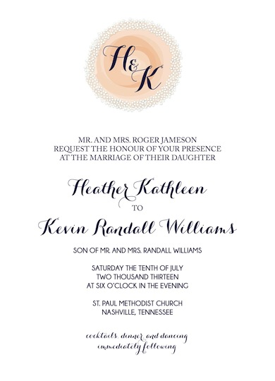 wedding invitations - Nectarine Dream by Brittany Warren