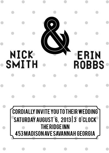 wedding invitations - Just Dotty by Samantha Kachel