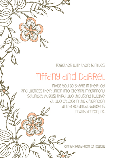 wedding invitations - Floral Whimsy by Sharise Williams