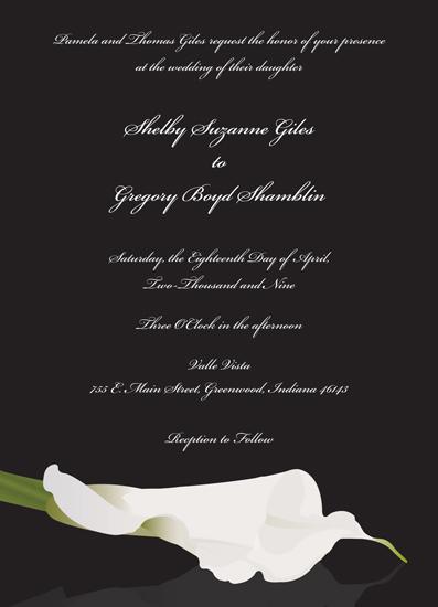 wedding invitations - Lily Wedding by Audrey Pelsor