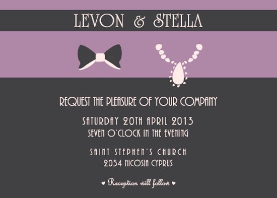 wedding invitations - Papillon by Stellina Creations