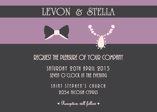 wedding invitations - Papillon by Stellina Creations