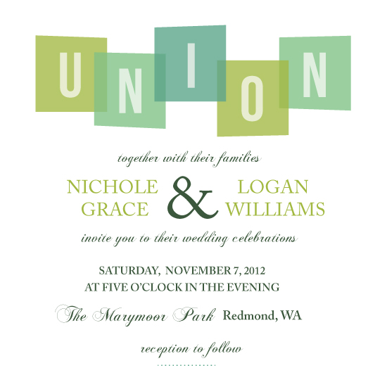 wedding invitations - the union by Anupama