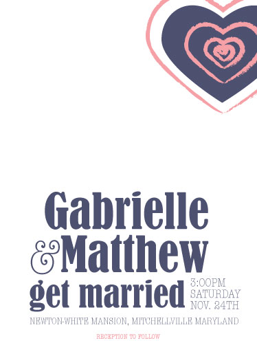 wedding invitations - Expanding Hearts by Joyrich Design Company