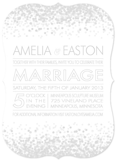 wedding invitations - Arctic Shimmer  by Twigs Print Studio