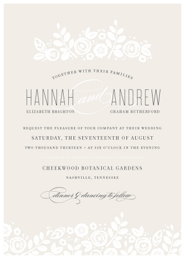 wedding invitations - White Shadows by Jessica Williams