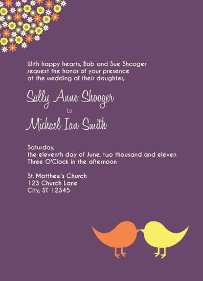 wedding invitations - Love Birds by Audrey Pelsor