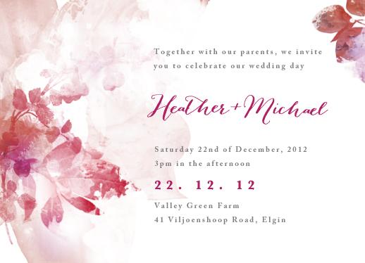 wedding invitations - watercolor bouquet display by Arabella June