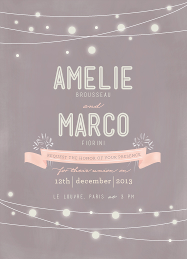 wedding invitations - Paris Lights by Lori Wemple