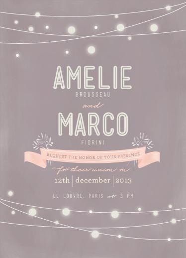 wedding invitations - Paris Lights by Lori Wemple
