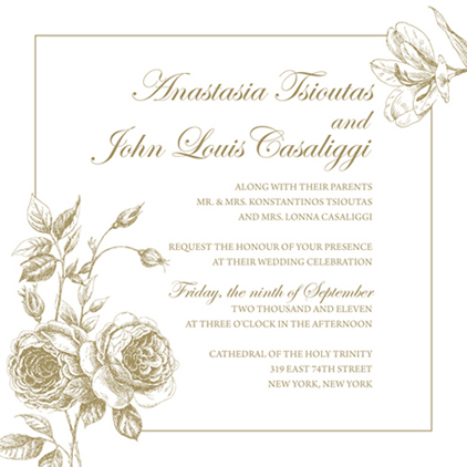 wedding invitations - Love Blooms in the Garden by Anastasia Tsioutas