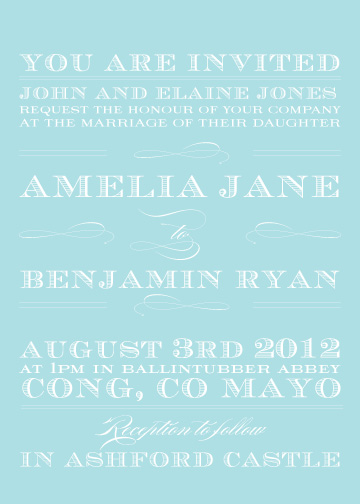 wedding invitations - Typography by Feather and Ink