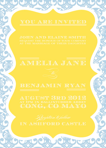 wedding invitations - Cameo Frame  by Feather and Ink