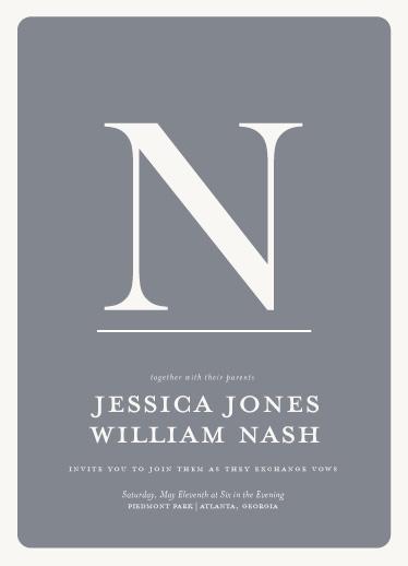 wedding invitations - Mostly Monogram by Ashley Ottinger