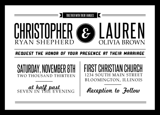 Wedding Invitations Black White And Modern By Lindsey Shepherd