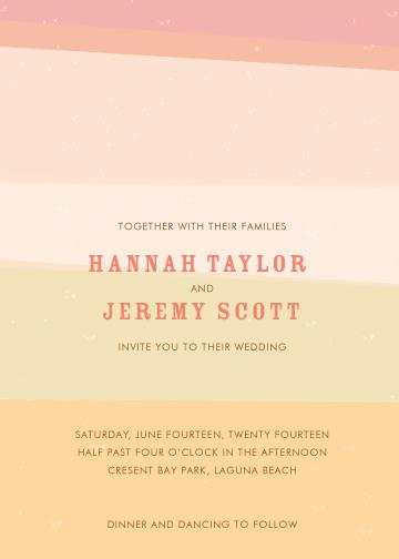 wedding invitations - Seaside Stripes by Monica Schafer