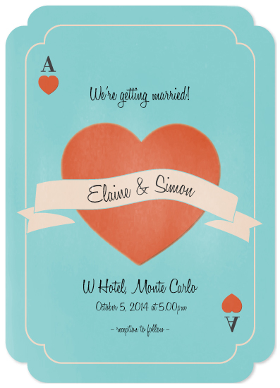wedding invitations - Ace of Hearts by Kampai Designs