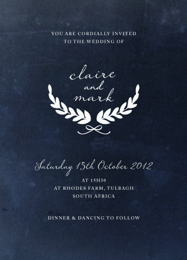 wedding invitations - Classic Blue Valentine by Arabella June