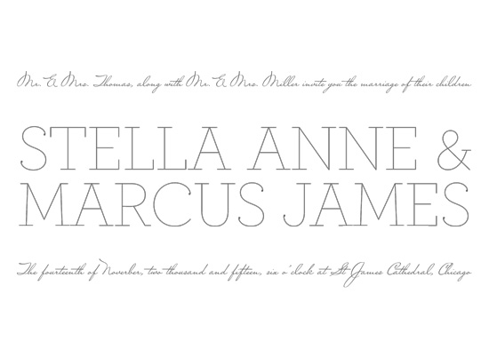 wedding invitations - Simple Elegance by Jessie Steury