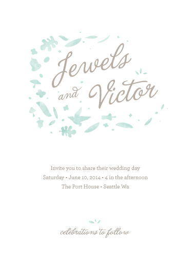 wedding invitations - Forrest Love by Heather Francisco
