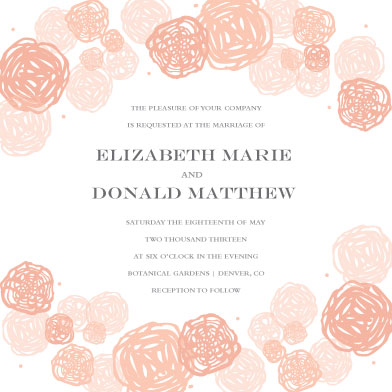 wedding invitations - Petal Blossom by Jules and Ink