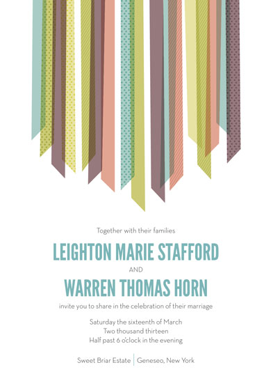 wedding invitations - Falling Ribbons by ps paperie