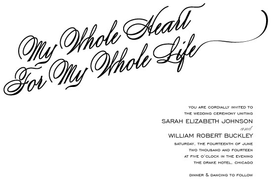 wedding invitations - My Whole Heart by Beth Schneider