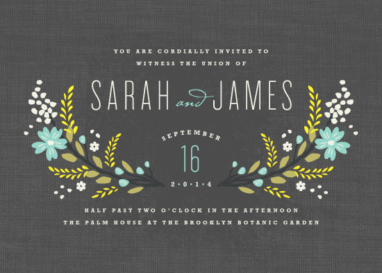 wedding invitations - Botanical Blooms by Kristie Kern