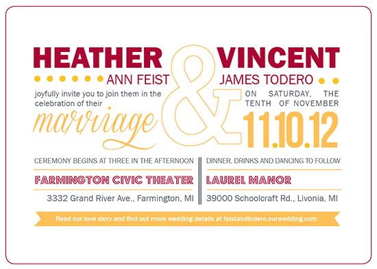 wedding invitations - Theater Wedding by Heather Behrens