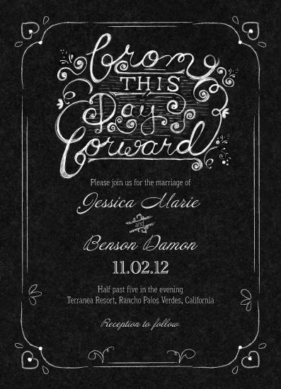 Wedding invitations from this day forward chalkboard at minted wedding invitations from this day forward chalkboard by becky nimoy filmwisefo Choice Image