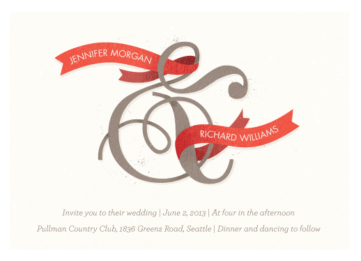 wedding invitations - And Love by Heather Francisco