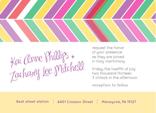 wedding invitations - Colorful Direction by Joyrich Design Company