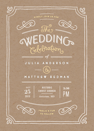 wedding invitations - Hand delivered by Jennifer Wick