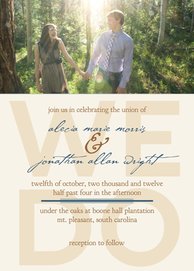 wedding invitations - We Boldly Do by Kellee Usher