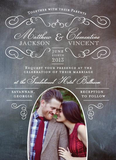 wedding invitations - Elegant Chalkboard by Susie Allen