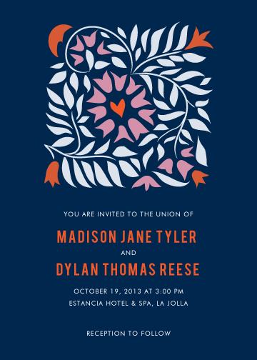wedding invitations - Moonlit Garden by Monica Schafer