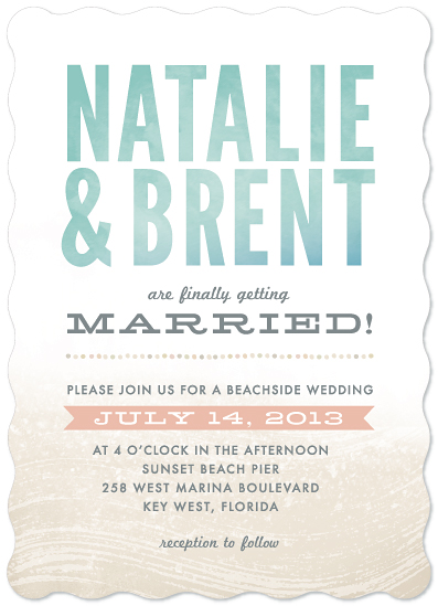 wedding invitations - Beachside Bliss by Hooray Creative
