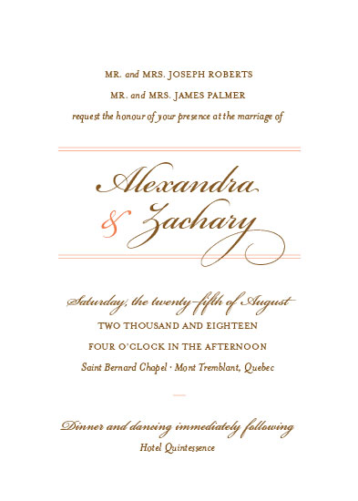 wedding invitations - Best of My Love by Michelle Secondi