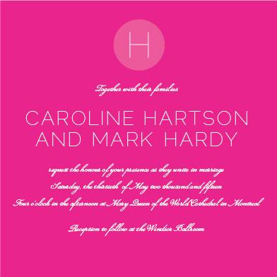 wedding invitations - Love Me Do by Michelle Secondi