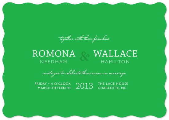 wedding invitations - Emerald Sky by 2birdstone