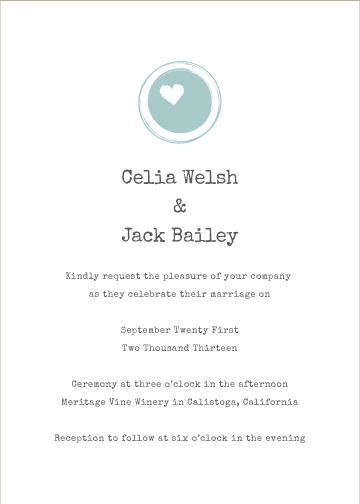 wedding invitations - One Love by Kirstin Nagy