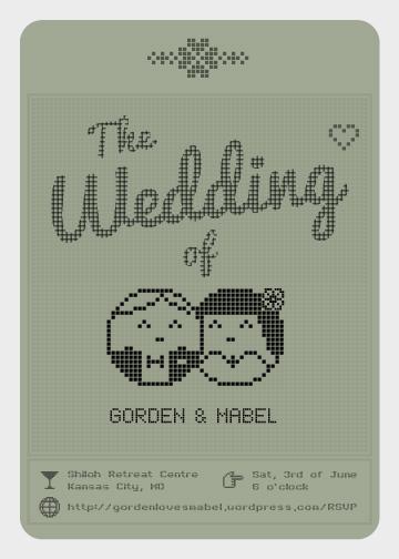 wedding invitations - Tamagotchi Wedding by Cats Blue Brew